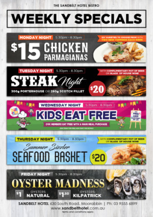 Weekly Dining Specials