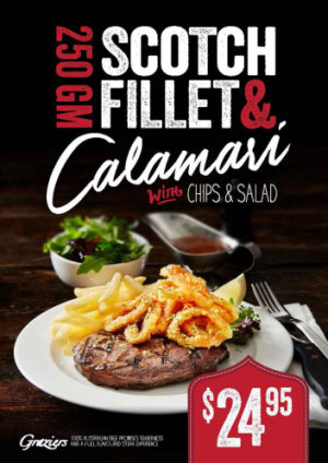 250gm Scotch Fillet & Calamari