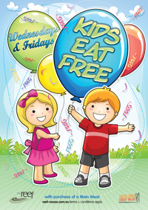 Kids eat FREE! Wednesday & Fridays