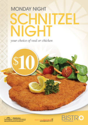 Monday $10 Schnitzel Night