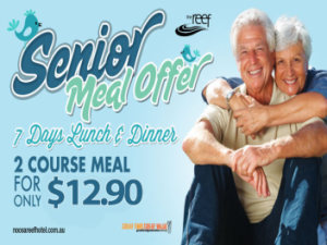 Seniors $12.90 2 Course Menu