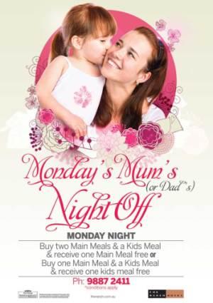 Monday Mum's (or Dad's) Night Off