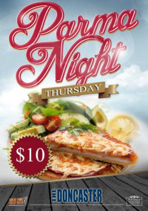 Thursday $10 Parma Night