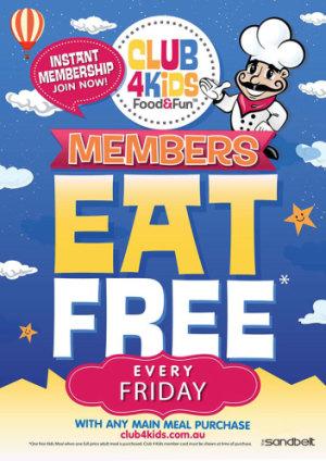 KIDS EAT FREE FRIDAYS