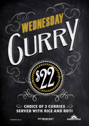 Wednesday $22 Curry