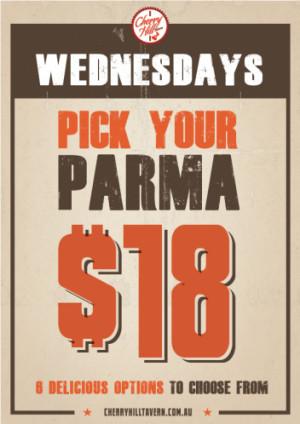 Wednesday $18 Parma